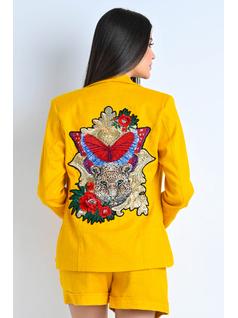 Blazer Amarelo com Aplicação front