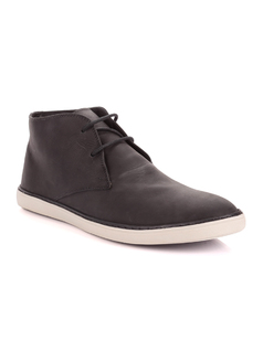 Black High-Top Shoe front