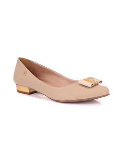 Nude Bow Slip-On front
