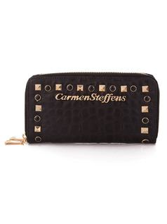 Black Wallet with Zipper front