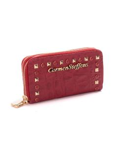 Raspberry Wallet with Zipper back