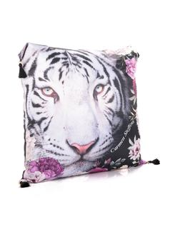 Colorful Garden Pillow back