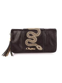 WALLET WITH SNAKE APPLIQUE front