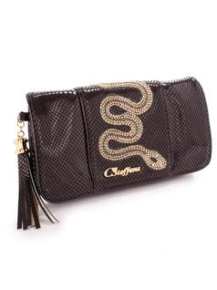 WALLET WITH SNAKE APPLIQUE back