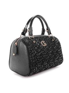 Black Shine Handbag back