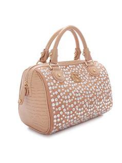 Beige Shine Handbag back