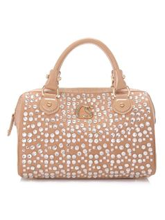 Beige Shine Handbag front