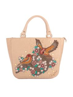 HANDBAG WITH BIRD APPLIQUE front