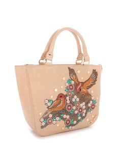HANDBAG WITH BIRD APPLIQUE back