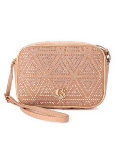 Almond Triangle Handbag front