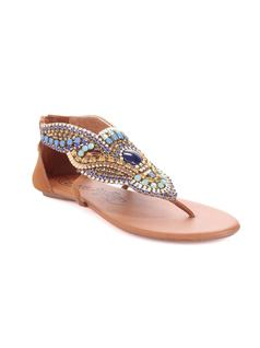 FLAT SANDAL WITH EMBROIDERY front
