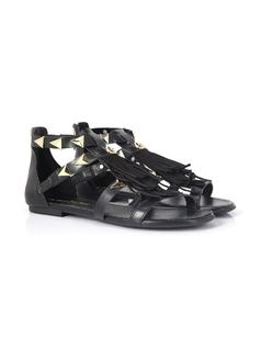 FLAT SANDAL WITH FRINGES back