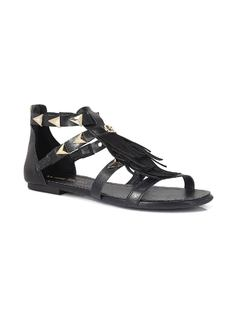 FLAT SANDAL WITH FRINGES front