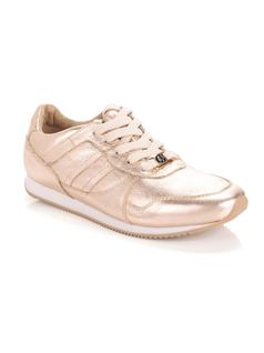 Metallic Leather Tennis Shoe front