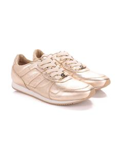 Metallic Leather Tennis Shoe back