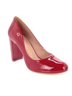 Red Personalized Pump front