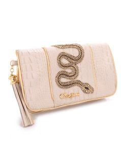 Beige Snake Handbag back
