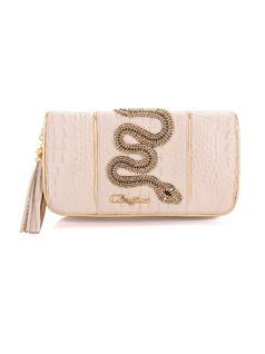 Beige Snake Handbag front