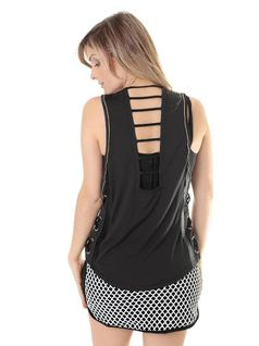 FITNESS TANK TOP WITH DETAILS back