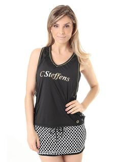 FITNESS TANK TOP WITH DETAILS front