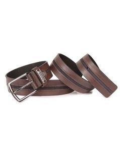 Men's Coffee Belt with Details front