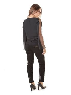 Skinny Pants with Black Details back