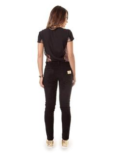 Black Velvet Pants back