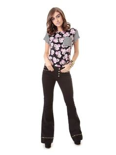 Flare Pants with Studs front
