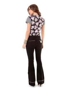 Flare Pants with Studs back