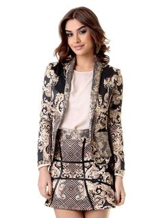 PRINTED BLAZER front