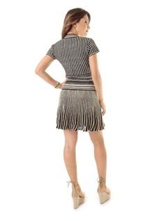 Knit Dress with Details back