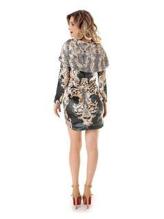 Plush Printed Dress back