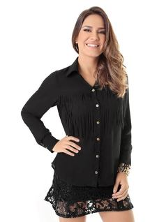 SHIRT WITH FRINGE DETAIL front