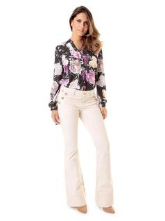 FLARE PANTS WITH BUTTONS front
