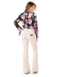 FLARE PANTS WITH BUTTONS back