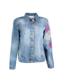 JEAN JACKET WITH EMBROIDERY