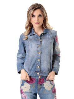 Embroidered Jean Jacket front