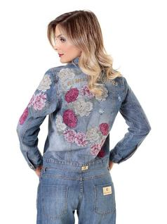 Embroidered Jean Jacket back