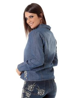 CAMISA JEANS CON BORDADOS back