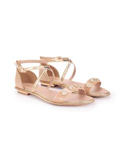 FLAT SANDAL WITH METALS back