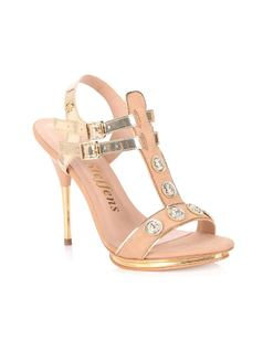 SANDAL WITH METALS AND BUCKLE front