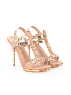 SANDAL WITH METALS AND BUCKLE back