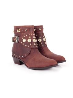 Cinnamon Ankle Boot with Metals back