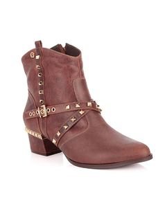 Cinnamon Ankle Boot with Details front
