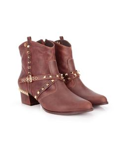 Cinnamon Ankle Boot with Details back