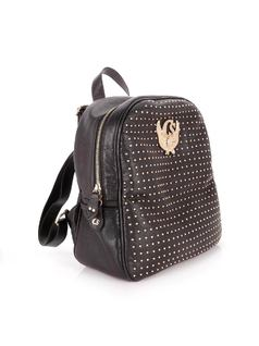 BACKPACK WITH METAL APPLIQUES back