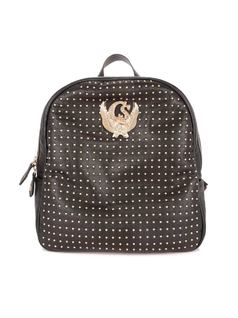 BACKPACK WITH METAL APPLIQUES front