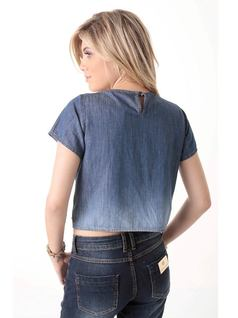 Embroidered Jean T-Shirt