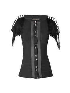 Black Fringe T-Shirt