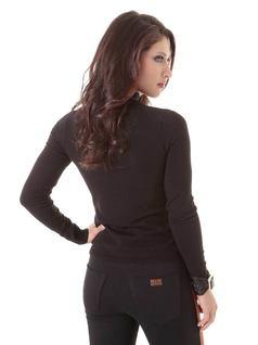 Black Long-Sleeved Blouse back